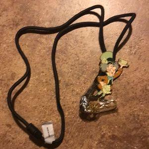 Alice in Wonderland Mad Hatter lanyard keychain